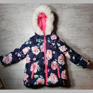 Carter's Puffer Jacket / Coat Faux Fur Trim Hood
